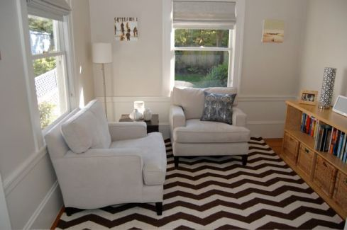 West Elm's Zigzag rug - instantly lifts your spirits