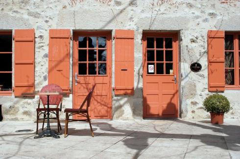 Orange doors