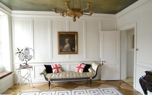 Panelled room