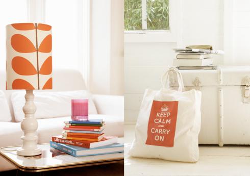 lamp and bag