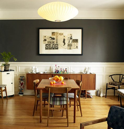 Home with baxter dining room did me wrong for Gray dining room wall art