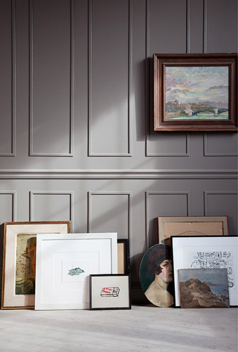 dark+taupe+wall+wainscotting