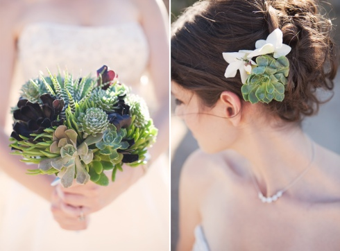 succulent+wedding+bouquet