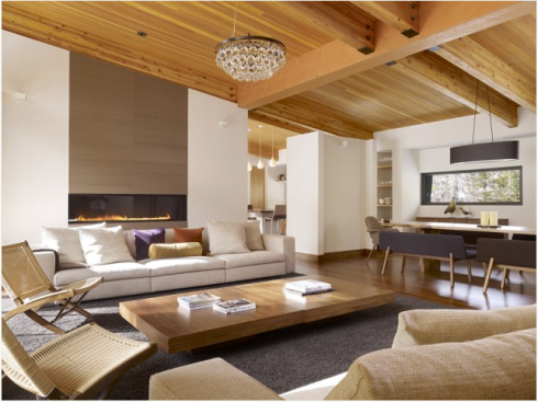 Contemporary ski lodge