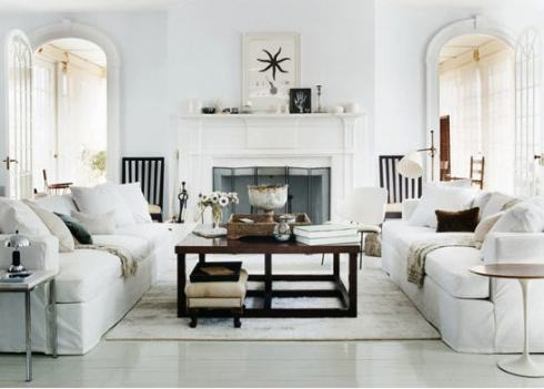 Thomas O'Brien Hamptons living room