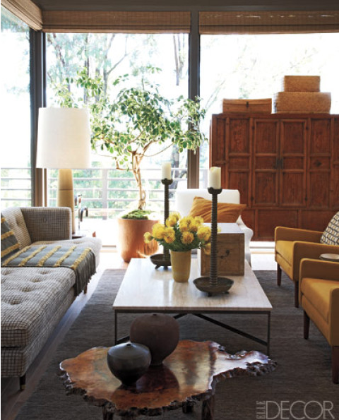 Eclectic global living room