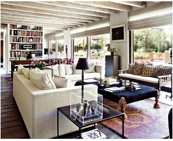 Modern Living Room Shelves Rug